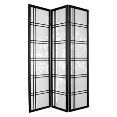 Oriental Furniture Bamboo Tree Shoji Screen Room Divider | from hayneedle.com