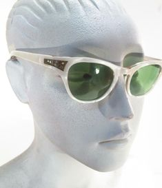 b0763d7ef040 Vtg Swank France White Pearlized Crystal Cat Eyes Cats Eye Sunglass Frames  * #Swank Vintage