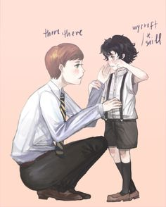 I never get tired of drawings of little Mycroft and Sherlock.