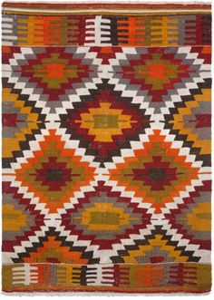 ANAMUR tribal kilim (from the Southern Toros Mountains), ca. mid-20th century.