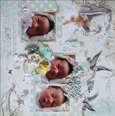 Baby Boy by:マリコ #スクラップブッキング