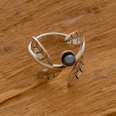 Sterling Silver Ring Olive Branch Ring by SilverJewelleryPlus