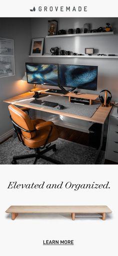 Diy Office Desk, Home Office Setup, Desk Setup, Office Furniture, Home Studio Setup, Recording Studio Home, Studio Desk, Home Room Design, Home Office Design