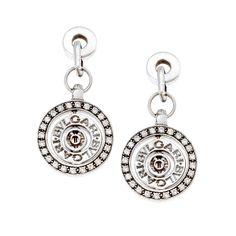 Σκουλαρίκια σε Επιπλατινωμένο Ασήμι με Ζιργκόν Swarovski Swarovski, Pocket Watch, Watches, Accessories, Fashion, Moda, Wristwatches, Fashion Styles, Clocks