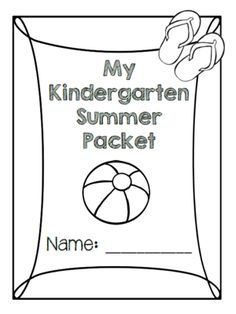 Kindergarten Readiness Packet- Skills to Practice for