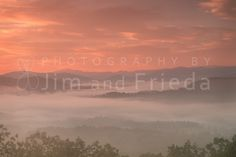 Sunrise and Fog For just a little while the fog affected the whole image while we were photographing the sunrise last week in the Smokies. I think this one is really special because of the mood the soft fog created.