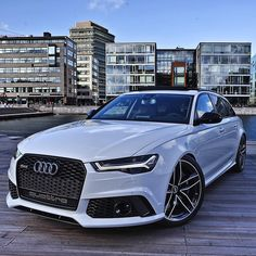 Starting the day of with my favorite car on this planet. I would pick this over any Aventador P1 or whatever you can come with.  Car: 2016 @Audi RS6 Avant (560hp V8 4.0 TwinTurbo) Color: Ibiz white metallic Performance: 0-100kmh 3.65sec (measured) 39 sec (official) Location: Malmö Sweden  Facebook: http://ift.tt/1sUXuHP Camera: Canon Eos 5D Mark II / 24-70mm Thanks to: Audi Malmö  #auditography #audi #rs6 #quattro #audis6 #malmo #sweden #german #euro #s6 #audia6 #caroftheday #photooftheday…