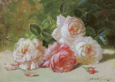 abbott fuller graves | Abbott Fuller Graves - ''Roses'', oil on canvas on MutualArt.com