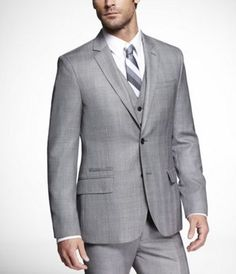 Grey suit for the groom and groomsmen. #yum