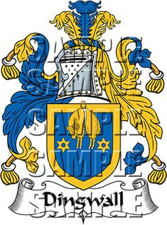 Dingwall Family Crest apparel, Dingwall Coat of Arms gifts
