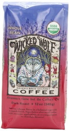 Raven's Brew Whole Bean Organic Wicked Wolf, Dark Roast, 12-Ounce Bags (Pack of 2) - http://www.teacoffeestore.com/ravens-brew-whole-bean-organic-wicked-wolf-dark-roast-12-ounce-bags-pack-of-2/