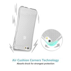 Amazon.com: TANNC® TPU Case for iPhone 6 Plus (5.5 inch), Flexible Slim Bumper with Shockproof Protective Cushion Corner (Comprehensive Protection) - Transparent Clear: Cell Phones & Accessories