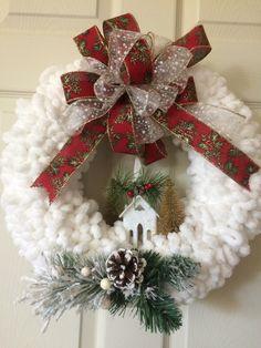 Christmas Yarn Wreaths, Seasonal Decor, Seasons, Create, Seasons Of The Year