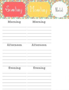 Printable: A Set Time for Everything