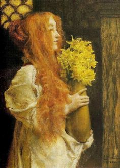 Lawrence Alma-Tadema (British artist, 1836-1912) Spring Flowers 1911