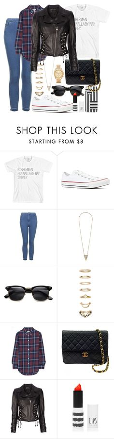 """""This is the real secret to life—to be completely engaged with what you are doing in the here and now. And instead of calling it work, realize it is play."""" by dancingincombatboots ❤ liked on Polyvore featuring American Apparel, Converse, Topshop, Forever 21, Band of Outsiders, Chanel, Versace and Michael Kors"