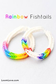 Fishtail Rainbow Loom Patterns  I love this! Everyone can wear it; not just kids!