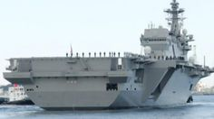 Japanese navy gets biggest flat-top since WWII-era aircraft carriers