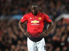 Romelu Lukaku of Manchester United reacts during the UEFA Champions League Quarter Final first leg match between Manchester United and FC Barcelona at Old Trafford on April 2019 in Manchester, England. Manchester United Wallpaper, Antonio Conte, Real Madrid Players, Manchester United Players, Transfer News, Thing 1, James Rodriguez, Old Trafford, Camp Nou