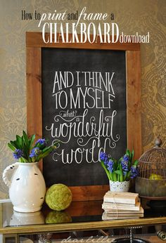 How To Download, Print and Frame A Chalkboard (Chalkboard Download Tutorial)  by Dear Lillie