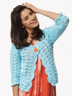 On the Lace Cardigan - Free Crochet Pattern - (yarnspirations)