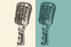 Studio microphone illustration Graphics Vintage, engraved style, vector illustration, hand drawnAvailable in : EPS   JPEG (High resolution by grop