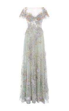 Patricia Bonaldi Embroidered and Beaded Illusion Bodice Dress - Preorder now on Moda Operandi White Beaded Dress, Embellished Dress, Beaded Dresses, White Dress, White Maxi, Pretty Dresses, Beautiful Dresses, Long Dresses, Dress Long