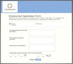 online entry form template