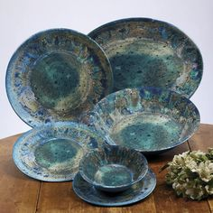 Great places Breana Melamine Salad Plate (Set of By Mistana Plates And Bowls, Salad Plates, Tea Bowls, Dinner Plate Sets, Dinner Plates, Melamine Dinnerware Sets, Tableware, Rustic Dinnerware, Outdoor Dinnerware