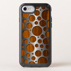 Cool Faux Metal Modern Trendy Wood Grain Pattern Speck iPhone Case - faux gifts style sample design cyo