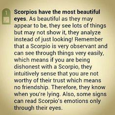 Scorpios have beautiful eyes