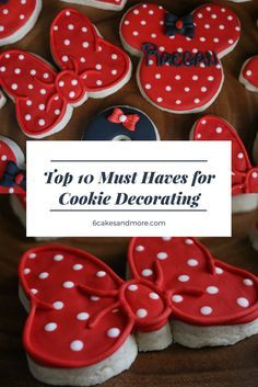 Clever list of products used in Cookie making...