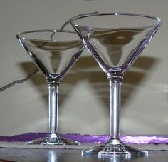 Vintage Martini Glasses by CleverGirlVintage on Etsy, $10.95