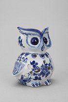 Owl votive candle holder