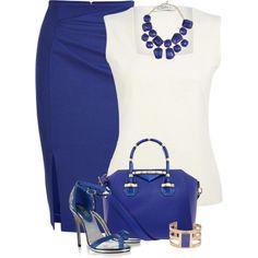 Blue & White for work