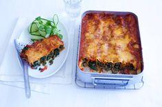 11 december - Rundergehakt in de bonus - Italiaanse pastabuisjes gevuld met spinazie en kaas - Recept - Cannelloni met gehakt en spinazie - Allerhande