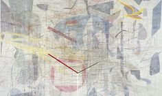 Detail of Plover's Wing, 2009, by Julie Mehretu from her show 'Grey Area' at the Deutsche Guggenheim