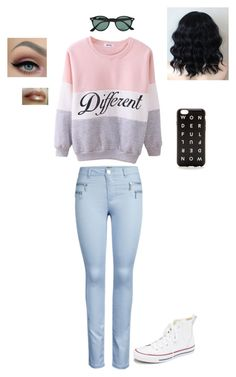 """Untitled #42"" by piperwrite on Polyvore featuring Converse, Ray-Ban, women's clothing, women, female, woman, misses and juniors"
