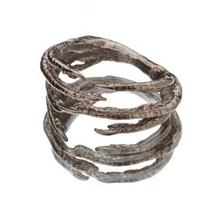 CLAW WEAVE RING  Gunmetal by snashjewelry on Etsy, $80.00
