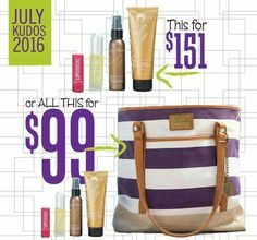 Talk about HUGE SAVINGS!!! $52 of free product and a FREE TOTE!!! July only and while supplies last at haplashes.com under kudos