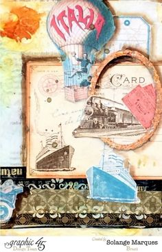 Art Journal & Tutorial by Solange Marques with Graphic 45