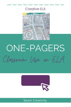 Wondering how you can use one pagers in your creative high school ELA classes? You can use them for anything! You can do argument one-pagers, poetry one-pagers, short story one-pagers, vocabulary one-pagers and much more. Check out this blog post for examples and inspiration, plus snag a popular free download for novel-based one-pagers. #onepagers #iteachela First Page, Creative Thinking, You Can Do, Short Stories, Vocabulary, How To Become, High School, Novels, Poetry