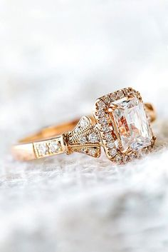 Vintage Engagement Rings With Stunning Details ❤ See more: http://www.weddingforward.com/vintage-engagement-rings/ #weddingforward #bride #bridal #wedding