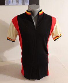 Kucharik Cycling Jersey Size medium  Vintage Black Red White