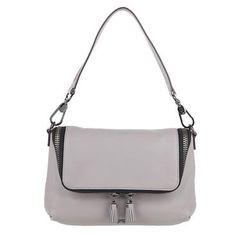 This @anyahindmarch maxi cross body is the perfect shade of gray! #handbags #purses #fashion