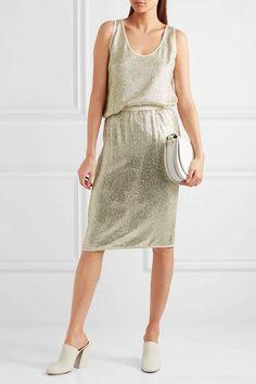 Vanessa Bruno - Gregor Sequined Crepe Skirt - Silver - FR36