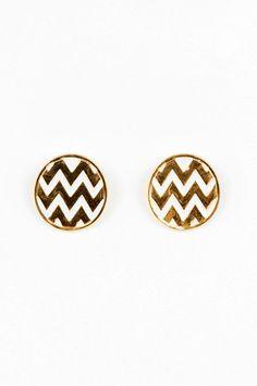 pretty chevron earrings