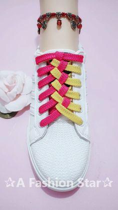 Lance Shoes Ideas✰A Fashion Star✰ - Frisuren hairlove.site - Lance Shoes Ideas✰A Fashion Star✰ DIY & Crafts Lance Shoes Ideas✰A Fashion Star✰ Deutsch Professionelle Fotografie Heutzutage gi - Ways To Lace Shoes, How To Tie Shoes, Fashion Star, Diy Fashion, Womens Fashion, Outdoor Fotografie, Shoe Crafts, Diy Crafts, Creative Shoes