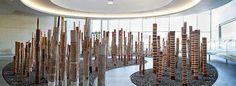 Aboriginal & Torres Strait Islander Art at the National Gallery of Australia, Canberra. The Aboriginal Memorial. Aboriginal Culture, Aboriginal Artists, Aboriginal Symbols, Aboriginal People, Kunst Der Aborigines, Arte Tribal, Tree Carving, Royal Academy Of Arts, Australian Art