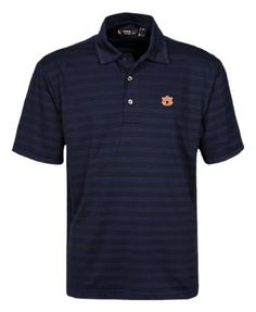 NCAA Auburn Tigers Short Sleeve Solid Texture Stripe Polo Oxford. $40.25